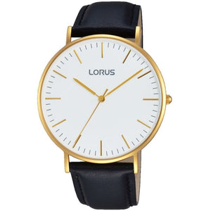 Lorus Gents GP Black Strap Watch