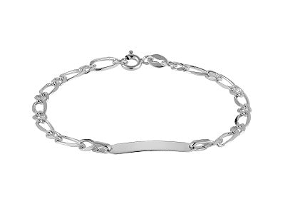 SILVER CHILDS ID BRACELET 6.5
