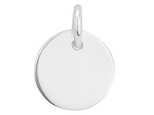 STERLING SILVER 12.5MM ROUND SMALL DISC