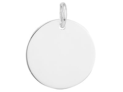 STERLING SILVER 15MM ROUND DISC