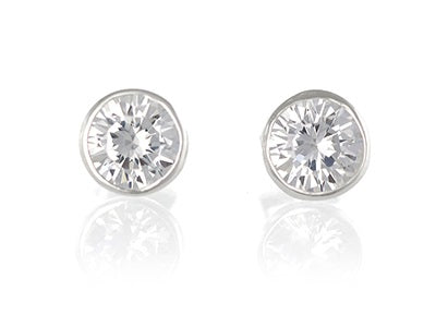 Sterling silver 3mm cz stud earring