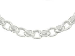 "STERLING SILVER CHUNKY 20"" 9.6 mm WIDE BELCHER CHAIN"