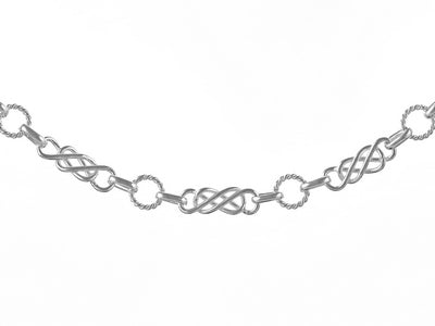 SILVER 6MM CELTIC NECKLET WITH LOBSTER CATCH