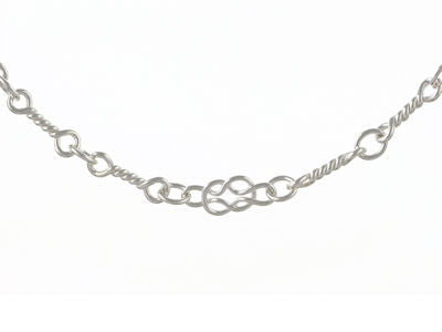 STERLING SILVER CELTIC STYLE HAND MADE BRACELET