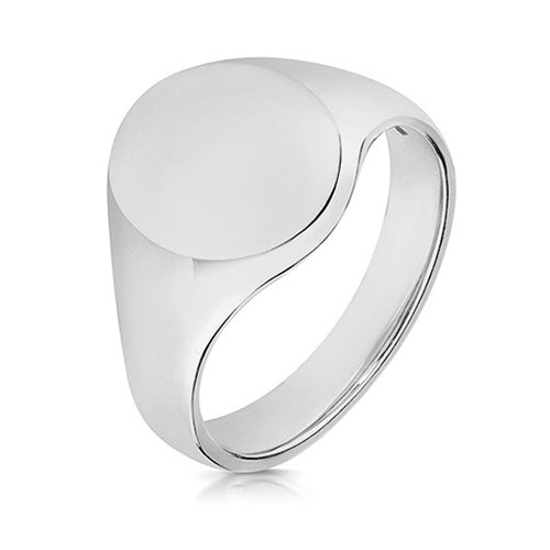 Sterling Silver Heavy Oval Signet Ring