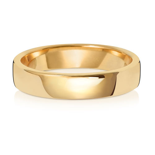 9ct Yellow Gold 4mm Court Wedding Ring