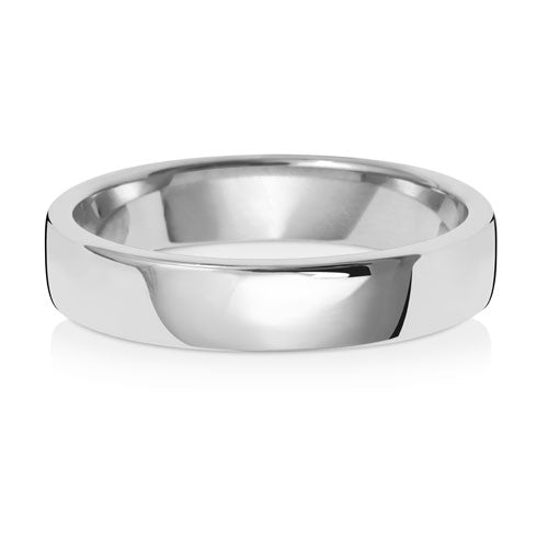 9ct White Gold 4mm Court Wedding Ring