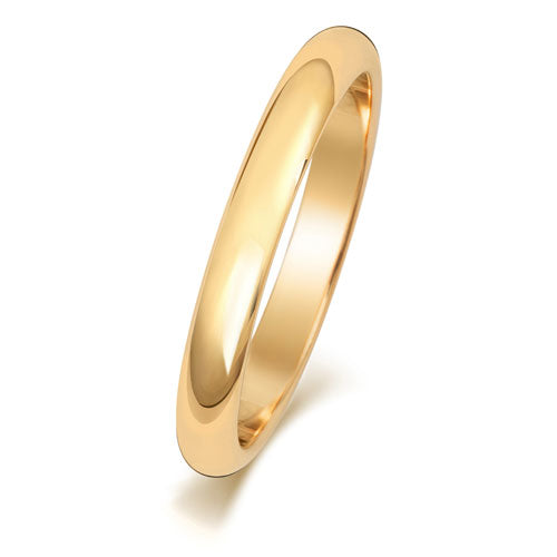 18ct Yellow Gold 2.5mm D Shaped Wedding Ring