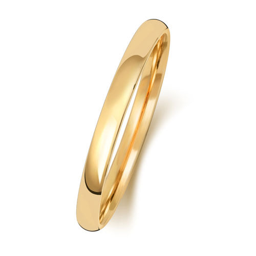 18ct Yellow Gold 2mm Court Wedding Ring