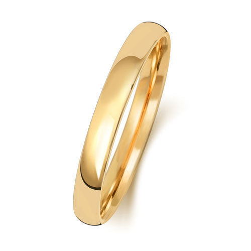 18ct Yellow Gold 2.5mm Court Wedding Ring