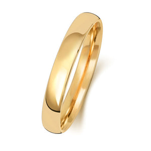 18ct Yellow Gold 3mm Court Wedding Ring