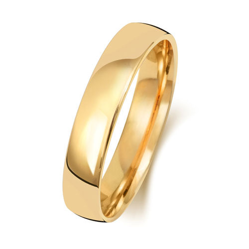18ct Yellow Gold 4mm Court Wedding Ring