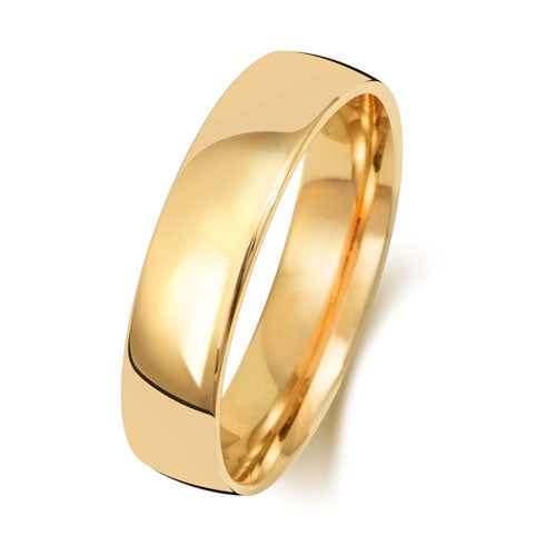 18ct Yellow Gold 5mm Court Wedding Ring