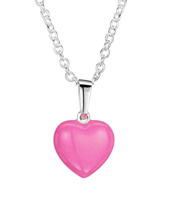 Jo For Girls sterling silver 3D enamel heart pendant