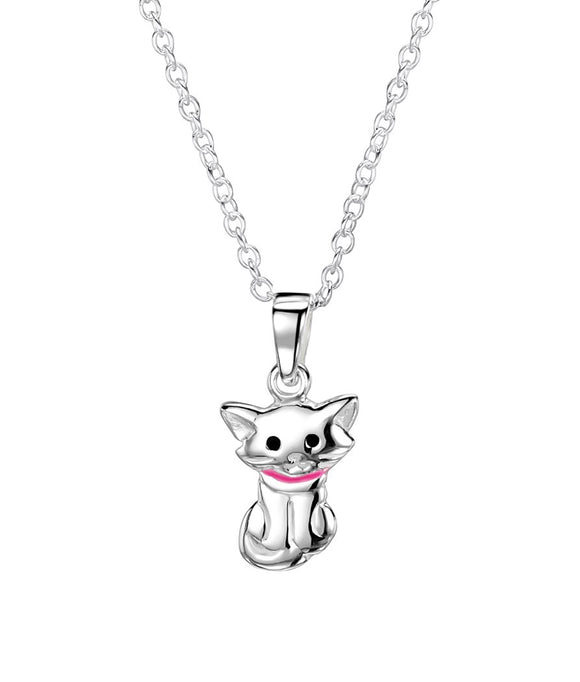 Jo For Girls sterling silver 'cat with attitude' pendant