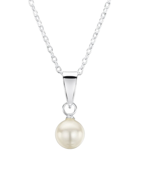 Jo For Girls sterling silver freshwater pearl pendant