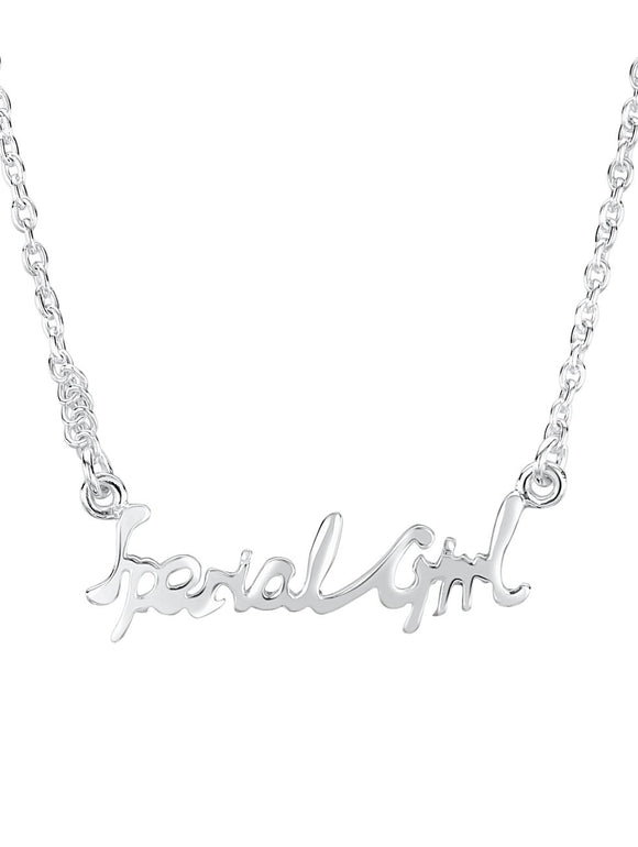 Jo For Girls sterling silver 'special girl' necklace