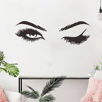 Lash decal on wall
