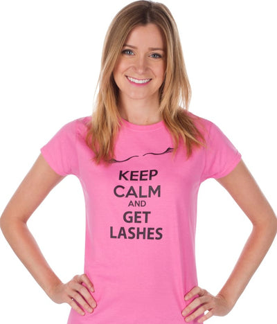 "Glad Lash ""Keep Calm and Get Lashes"" T-Shirt"