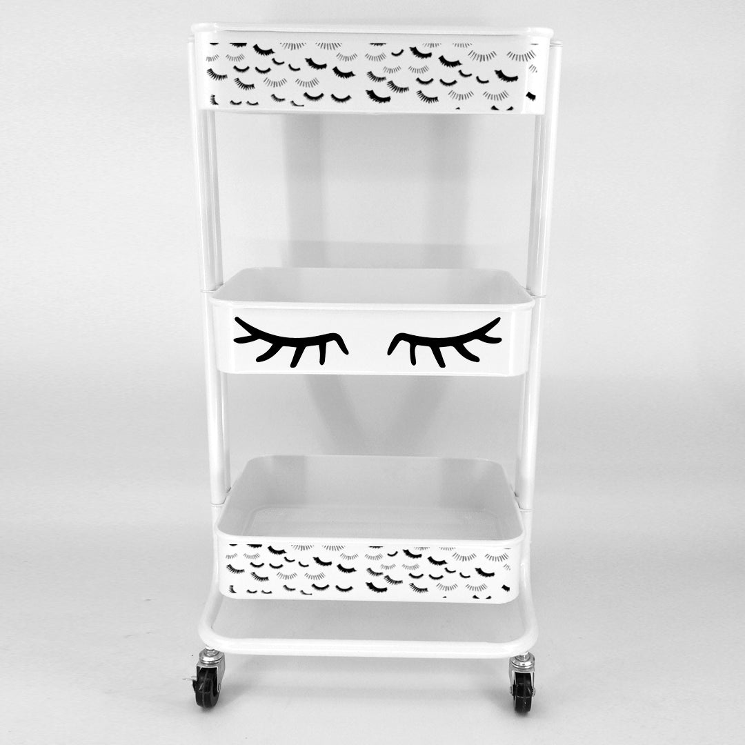 Lash Cart with wheels front view