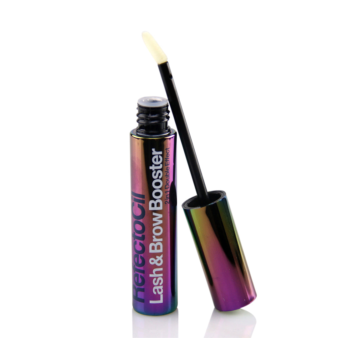 Refectocil Lash & Brow Booster 6ml open with application brush