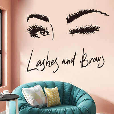 Eyebrow Wall Decal in Room