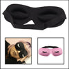 3D Contoured Black Satin Eyelash Extension Sleep Mask