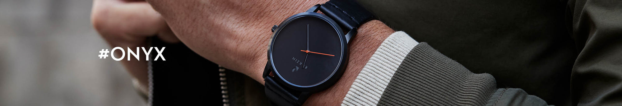 Rokzin Onyx Watch