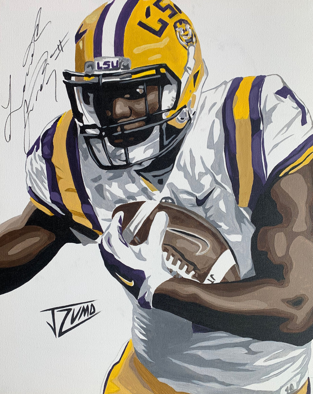 Leonard Fournette - Gold Framed Legend