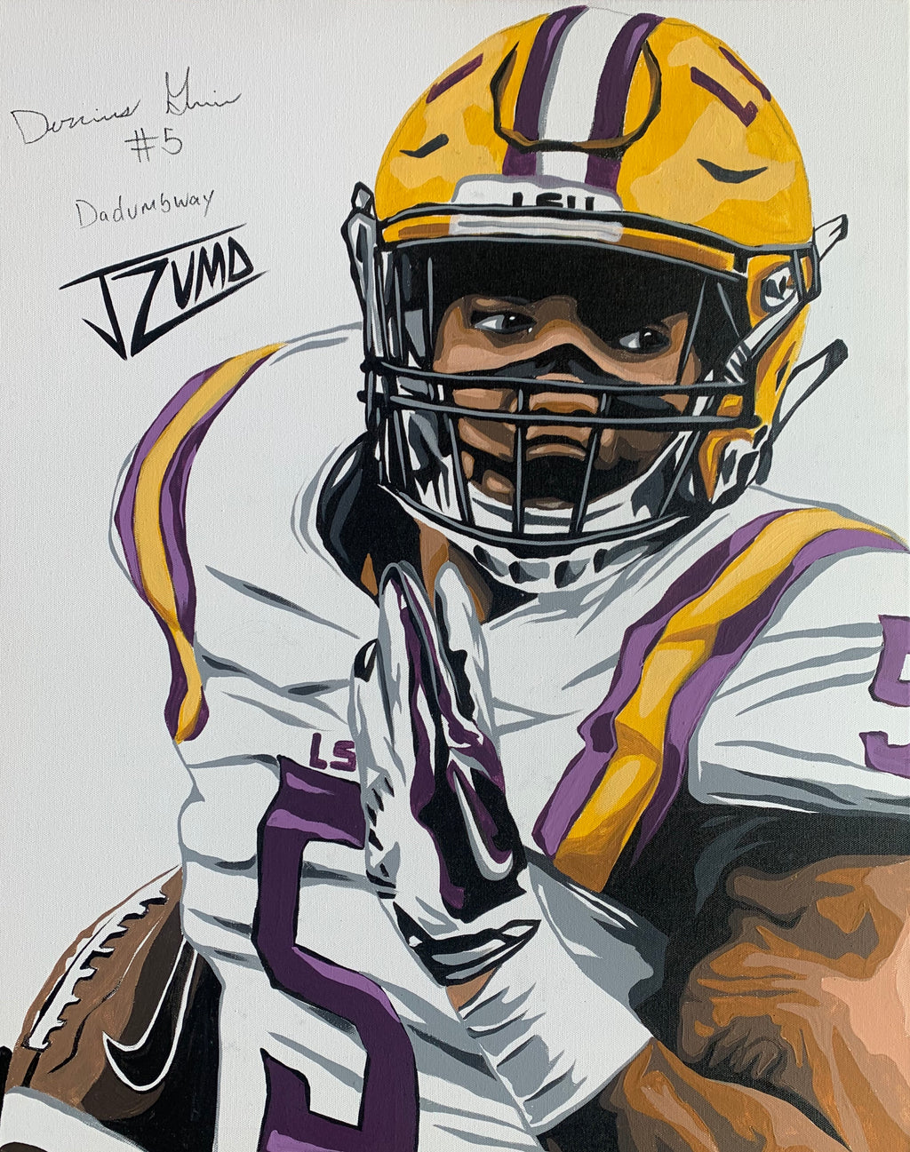 Derrius Guice - Gold Framed Legend