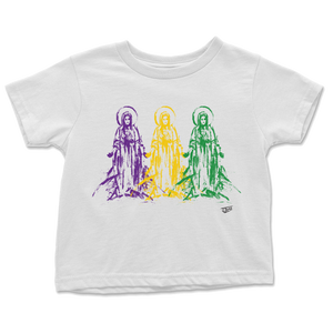 Mother Mary Toddler Tee - Mardi Gras