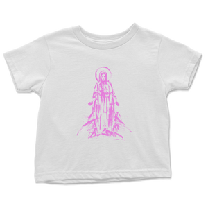Mother Mary Toddler Tee - Pink