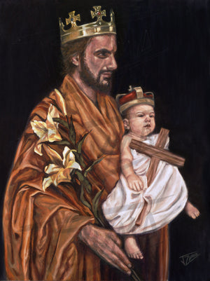 """St Joseph and The Christ Child"""