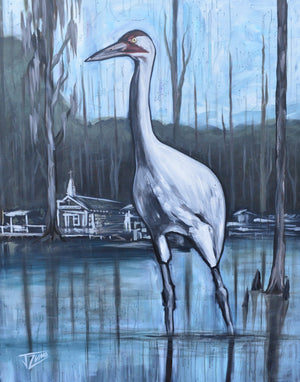 Whooping Crane by Blind River Chapel