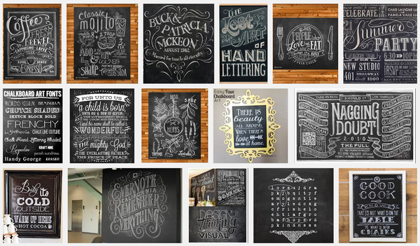 google image search chalkboard art collage