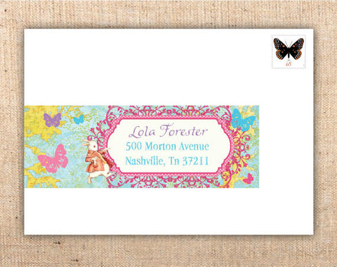 Whimsical Wonderland Wrap-Around Address Labels