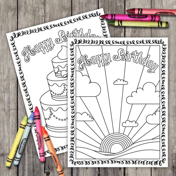 Art Party Coloring Sheets