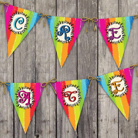 Art Party Pennant Banner