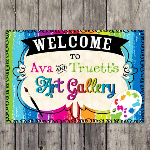 Art Party Welcome Sign