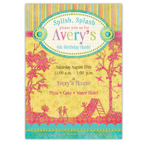 Backyard Fun Birthday Invitations