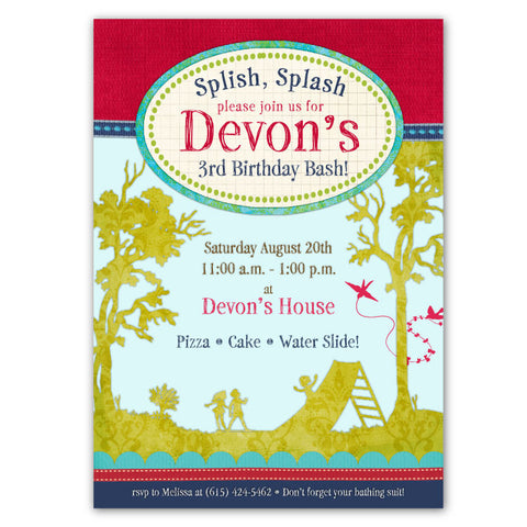 Backyard Fun Birthday Invitations 2