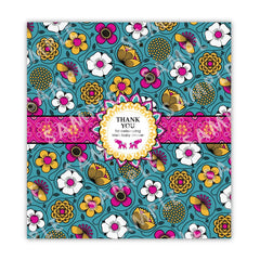 Bali Indian Printable Candybar Wrappers in Gold & Magenta