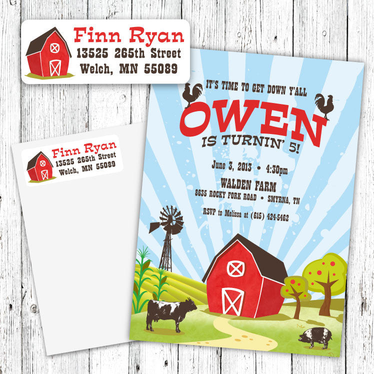 Barn Party Address Labels