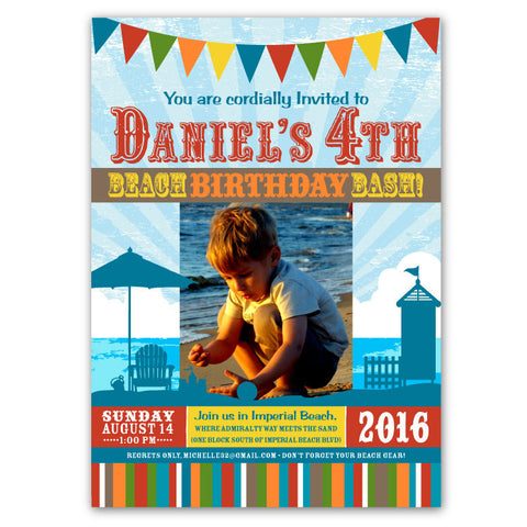 Beach Bash Birthday Invitations (A)