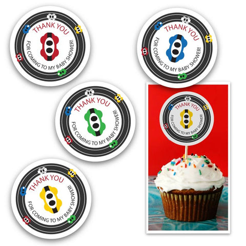 Modern Race Cars Party Circles