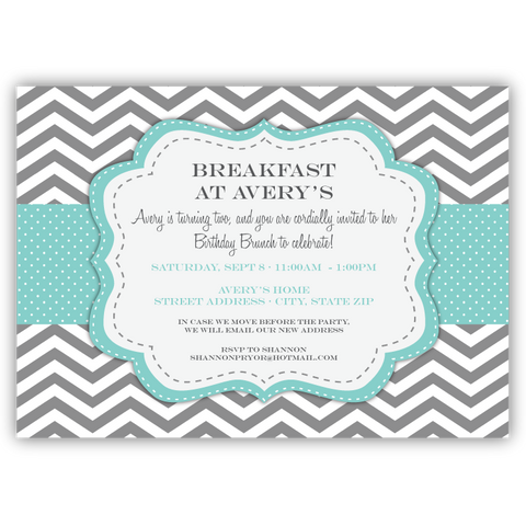 Breakfast at Tiffany's Party Invitation