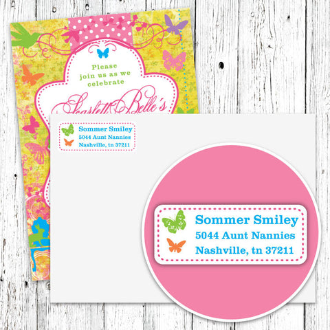 Butterfly Garden Address Labels