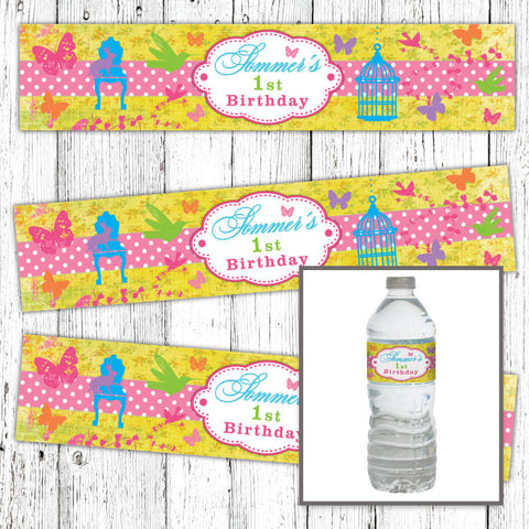Butterfly Garden Bottle Labels