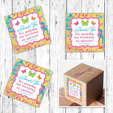 Butterfly Garden Party Favor Tags