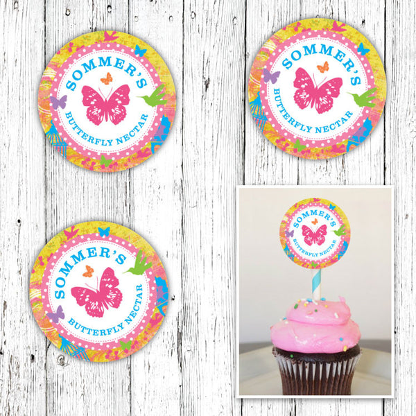Butterfly Garden Party Circles (B)